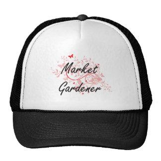 Market Gardener Artistic Job Design with Butterfli Trucker Hat
