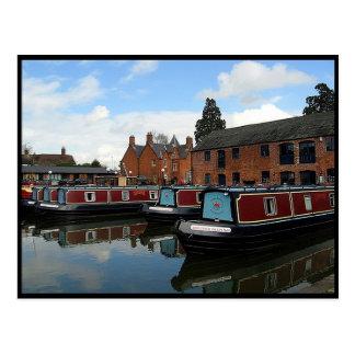 Market Harborough Houseboat Basin Postcard