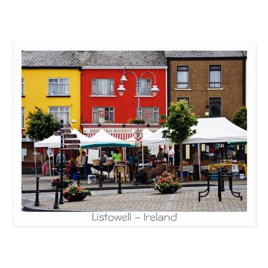 Market in Listowell Postcard
