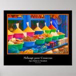 Market in Marrakech - Mélange pour Couscous Print