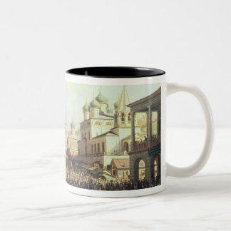 Market in Nishny, Novgorod, 1872 Two-Tone Coffee Mug