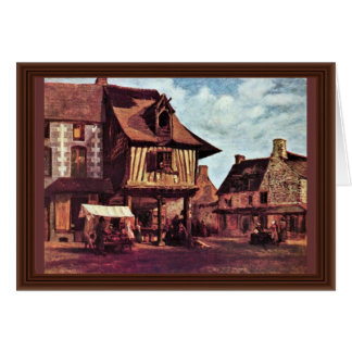 Market In Normandy By Rousseau Théodore Card