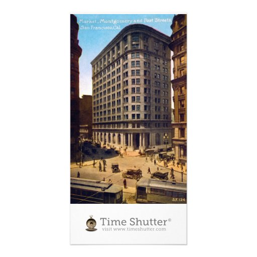 Market Montgomery and Post Streets, San Francisco Photo Card