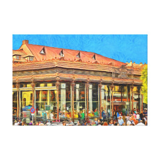 Market of San Miguel in Madrid. Canvas Print