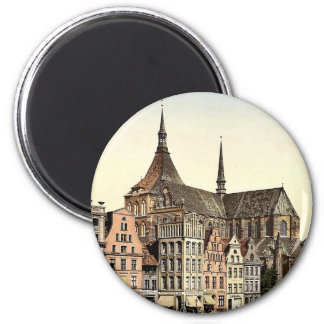 Market place and Marien Church, Rostock, Mecklenbu Magnet
