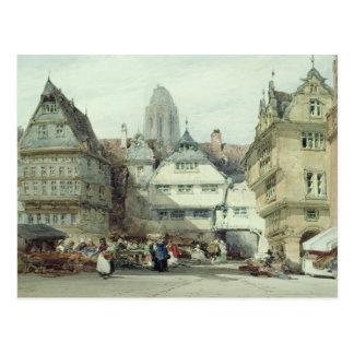 Market Place, Frankfurt Postcard
