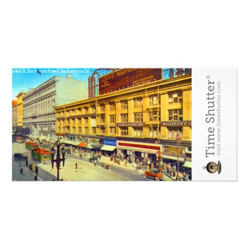 Market St East from Powell Photo Card Template