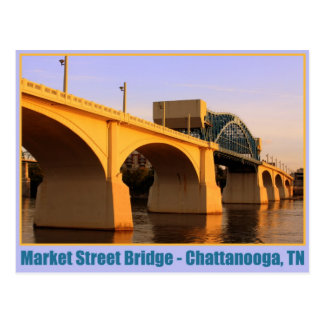 Market Street Bridge - Chattanooga, TN Postcard