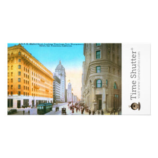 Market Street Looking West Photo Greeting Card