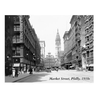 Market Street, Philly, 1910s Postcard