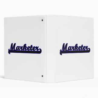 Marketer Classic Job Design Vinyl Binder