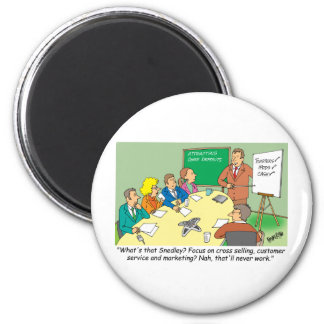 MARKETING / BANKING / BOARD MEETING finance gifts 2 Inch Round Magnet