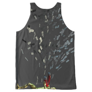 Marketing Concept with Businessman All-Over-Print Tank Top
