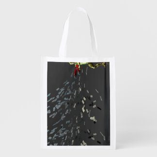 Marketing Concept with Businessman Reusable Grocery Bag