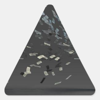Marketing Concept with Businessman Triangle Sticker