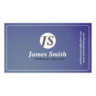 Marketing Consultant - business card