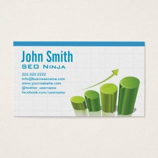 Marketing Growth Chart SEO Ninja Business Card
