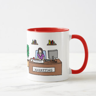 Marketing guru- personalized cartoon mug