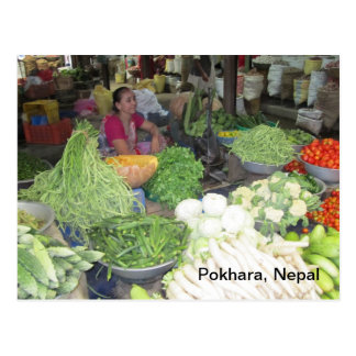 Marketplace in Pokhara Postcard