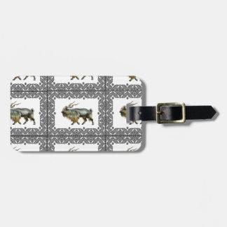 Markhor frames luggage tag