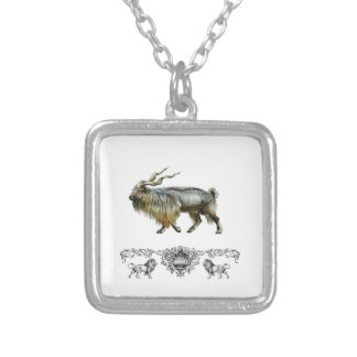 Markhor power silver plated necklace
