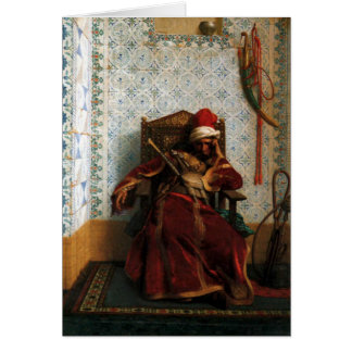 """Markos Botsaris"", by Jean Leon Gerome Card"