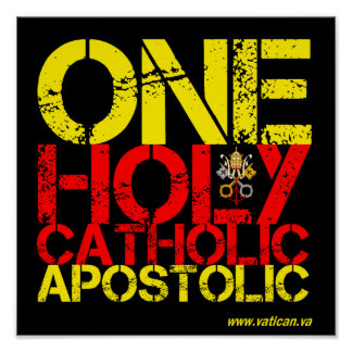Marks of the Catholic Church Poster