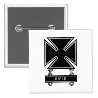 Marksman Badge w/Rifle Bar Pinback Buttons