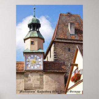 Markusturm Rothenburg Poster