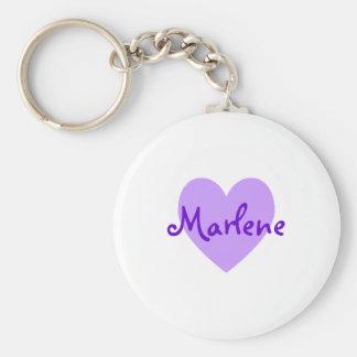 Marlene in Purple Keychain