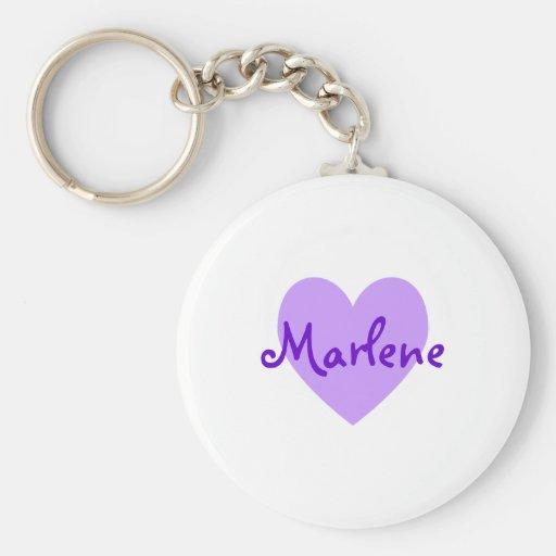 Marlene in Purple Keychains