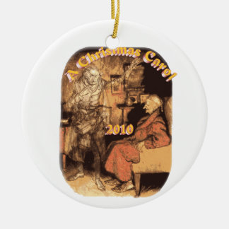 Marley and Scrooge 2010 Round Ornament