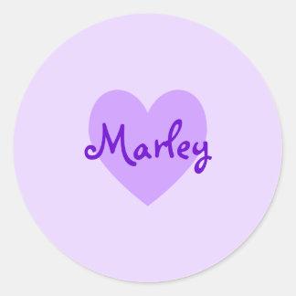 Marley in Purple Classic Round Sticker