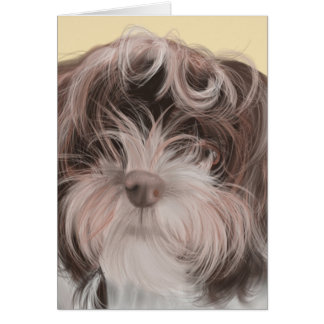 Marley the Havanese Note Card with envelope