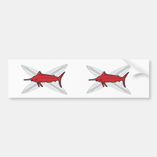 Marlin and Surfboards Bumper Stickers