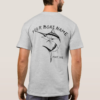 Marlin Boat Name Shirt