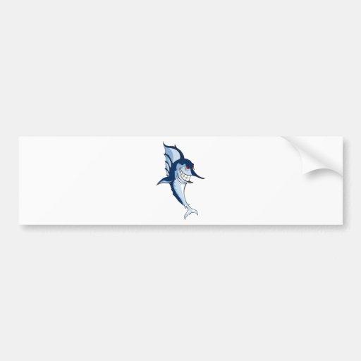 Marlin Cartoon Bumper Stickers