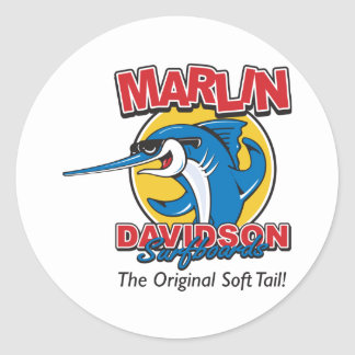 Marlin Davidson The Original Classic Round Sticker
