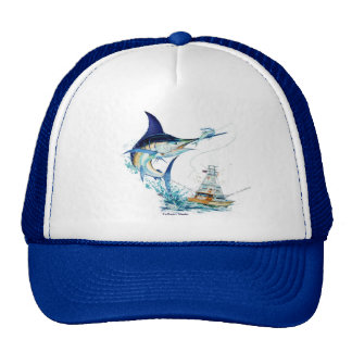 Marlin Jumping Trucker Hat