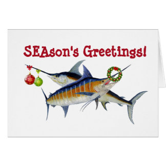 Marlin & Swordfish Christmas Card