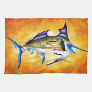 Marlinissos V1 - violinfish Kitchen Towels