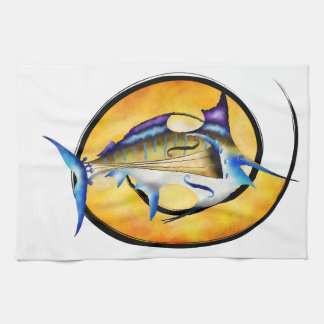 Marlinissos V1 - violinfish witout back Kitchen Towel