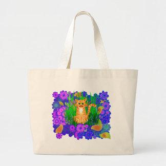 MARMALADE CAT DESIGN TOTE BAG