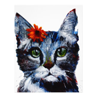Marmalade, the cute cat who wears a flower. customized letterhead