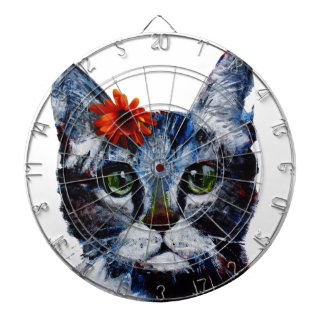 Marmalade, the cute cat who wears a flower. dartboard