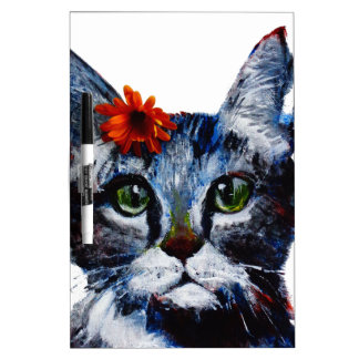 Marmalade, the cute cat who wears a flower. dry erase board