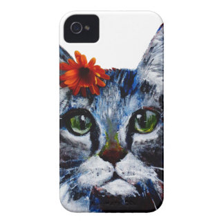 Marmalade, the cute cat who wears a flower. iPhone 4 covers