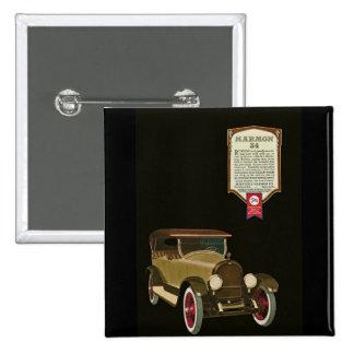 Marmon 34 - Vintage Auto Advertisement 2 Inch Square Button