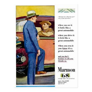 Marmon 68 - Vintage Automobile Advertisement Postcard