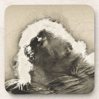 Marmoset Fine Art Sketch of Tiny Monkey Coaster